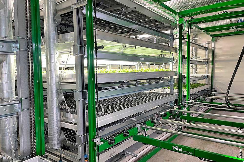 Vertical farming flytning af rendevogne
