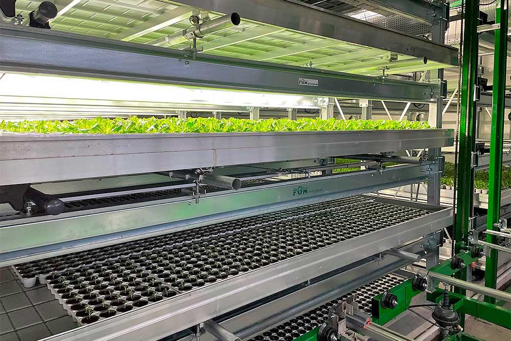 Vertical farming med rendevogn